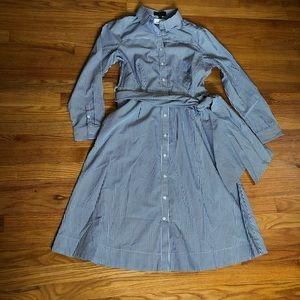 J. Crew Dresses - NWT J Crew Tie-waist shirtdress in stripe H7791